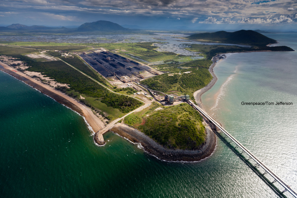 9th March 2012. Abbot Point, Queensland Abbot Pt, surrounded by wetlands and coral reefs, is set to become the worlds largest coal port. ©Greenpeace/Tom Jefferson.