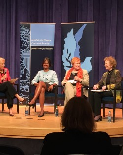 women and climate change panel at Wilson Center