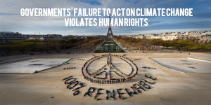 A large scale visual message made by hundreds of people promoting a 100% renewable energy and peace during the COP21 climate summit. The event was created in Paris by the international artist John Quigley.
