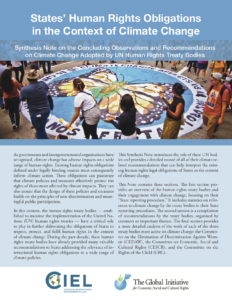 States' Human Rights Obligations in the Context of Climate Change - report cover